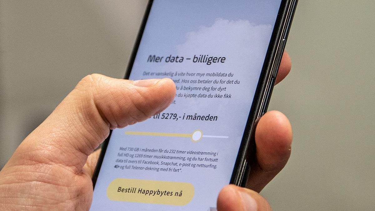 Nytt mobilabonnement lar deg bruke akkurat så mye data som du vil