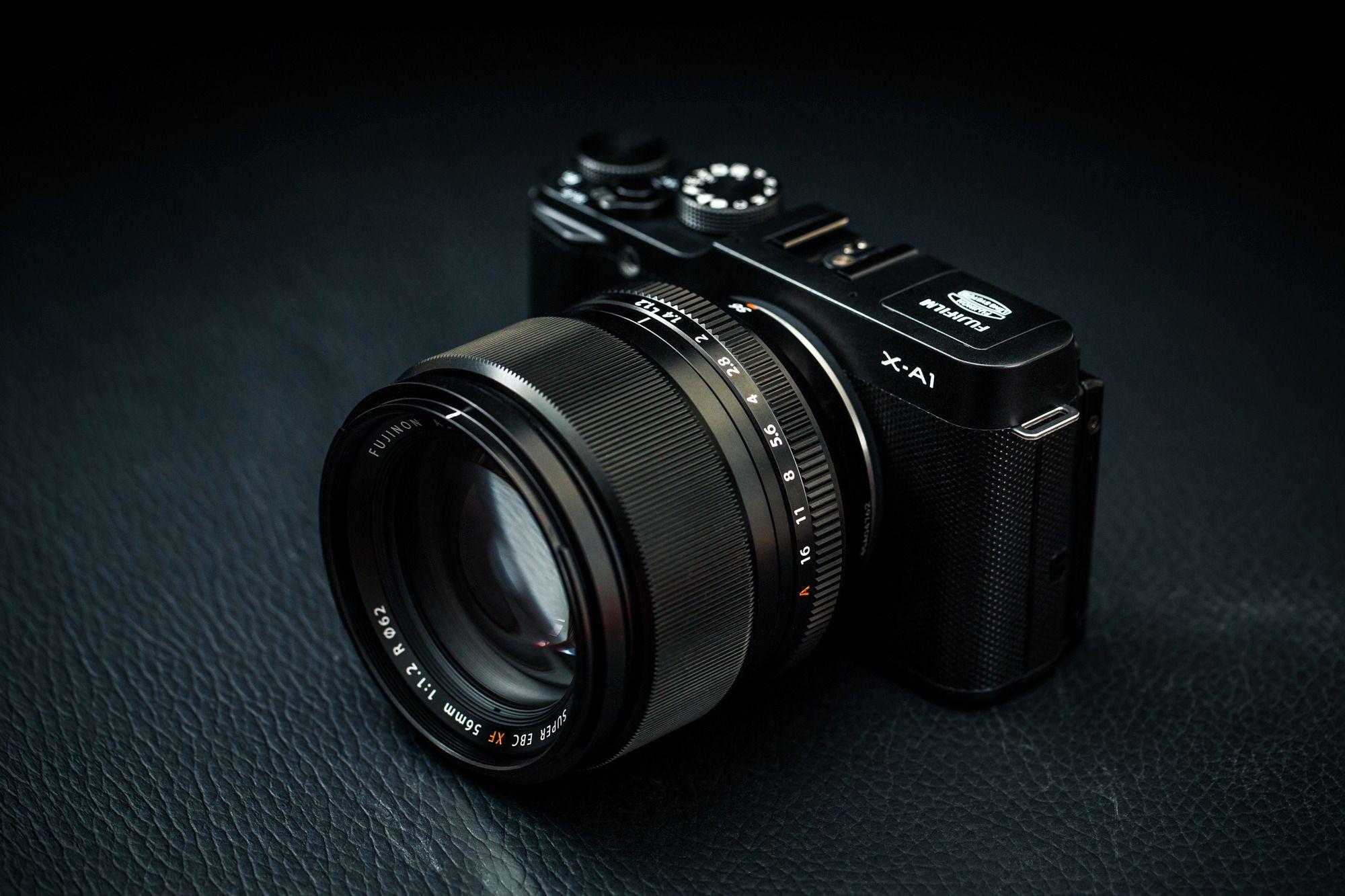 Fujifilm X-A1 med Fujinon XF 56mm f/1.2 R.Foto: Johannes Granseth