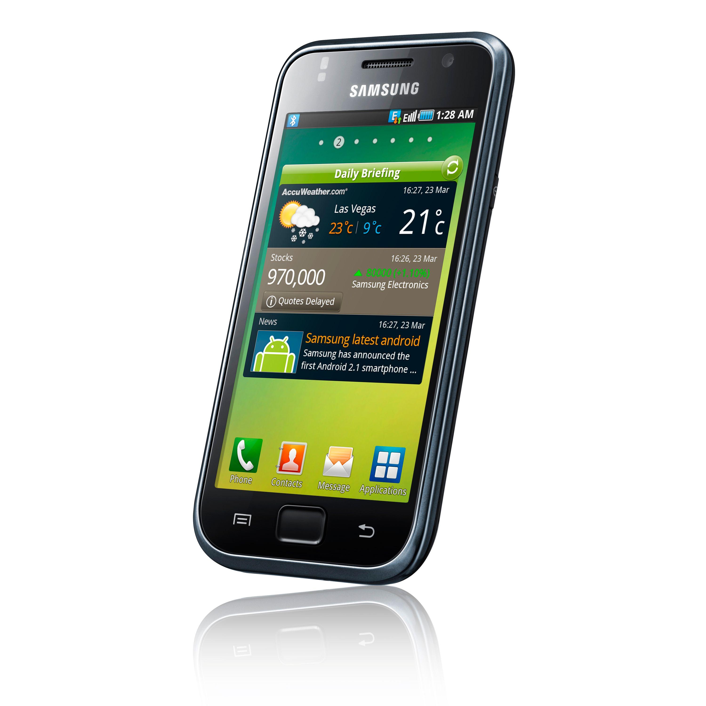 Samsungs Galaxy S kjører Android og grensesnittet Touch Wiz.