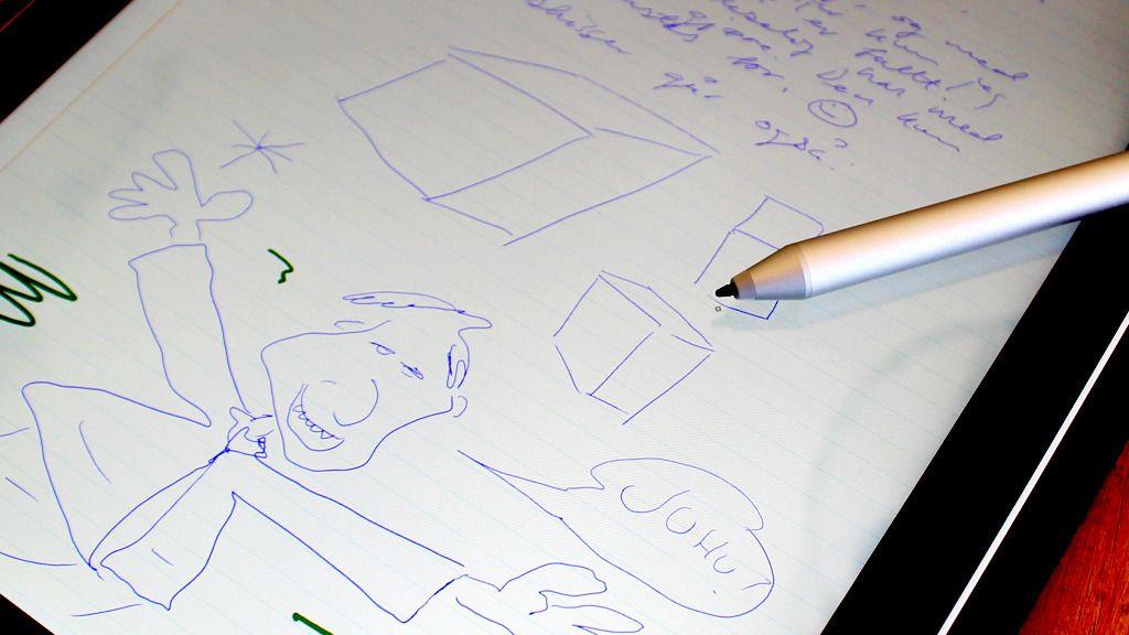 Enkelte mobiler og nettbrett har en ekstra innebygget sensor som snakker med digitale skjermpenner. Denne omtales som regel som en «digitizer».Foto: Espen Irwing Swang, Tek.no