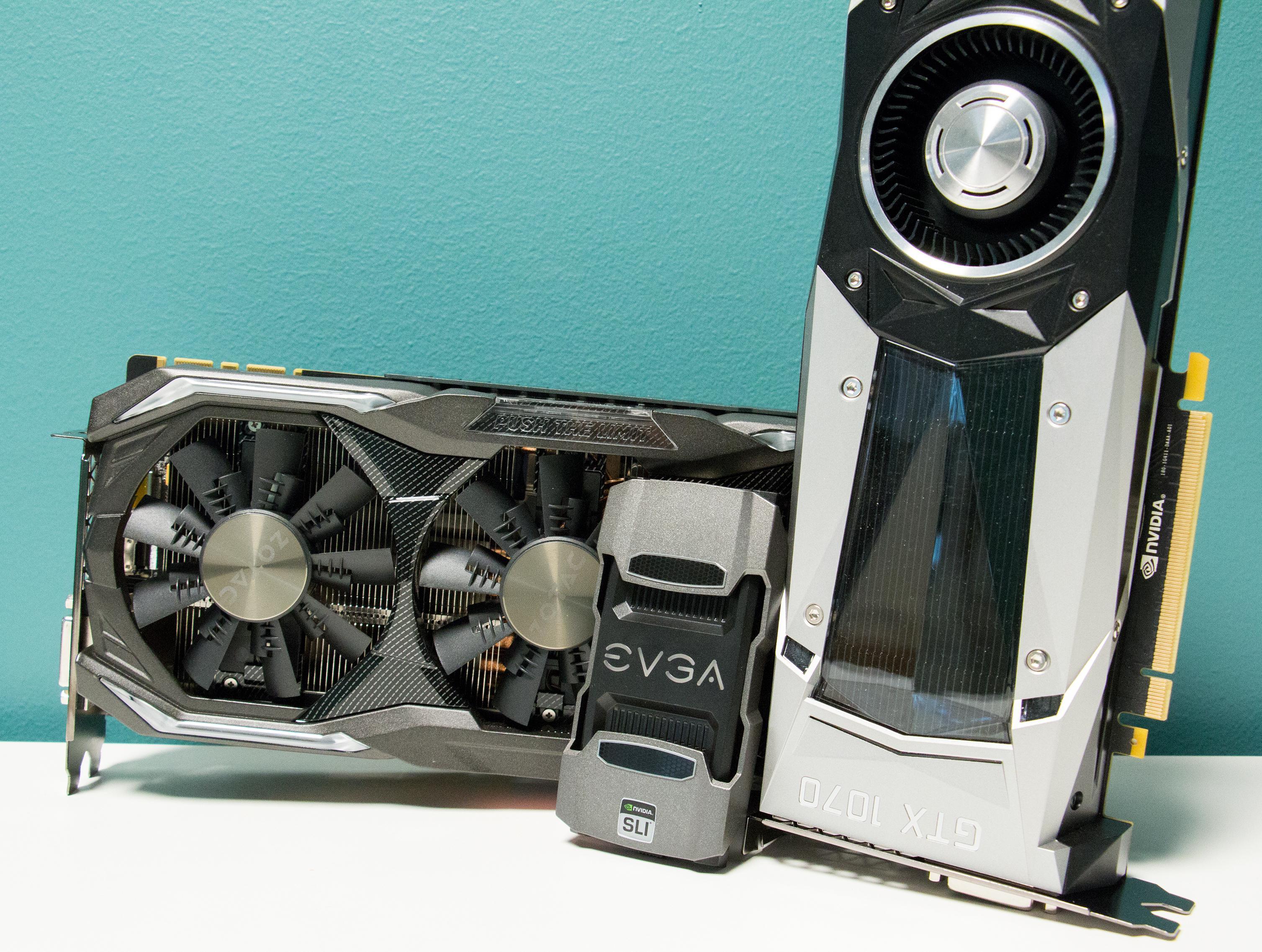GTX 1070 i SLI er et godt valg for deg som allerede har et GTX 1070-kort stående i maskinen, og som vil ha GTX 1080 TI-ytelse «til halv pris».