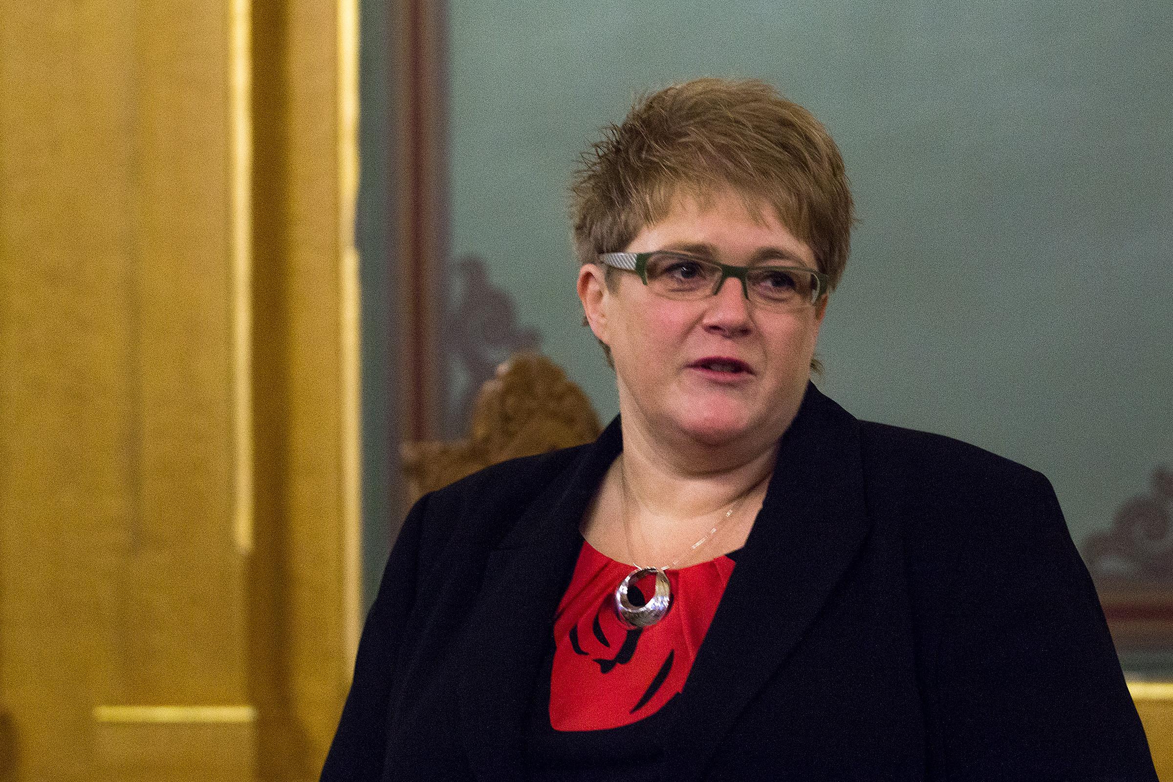 Venstreleder Trine Skei Grande mener direktivet må droppes i Norge.Foto: Varg Aamo, Hardware.no