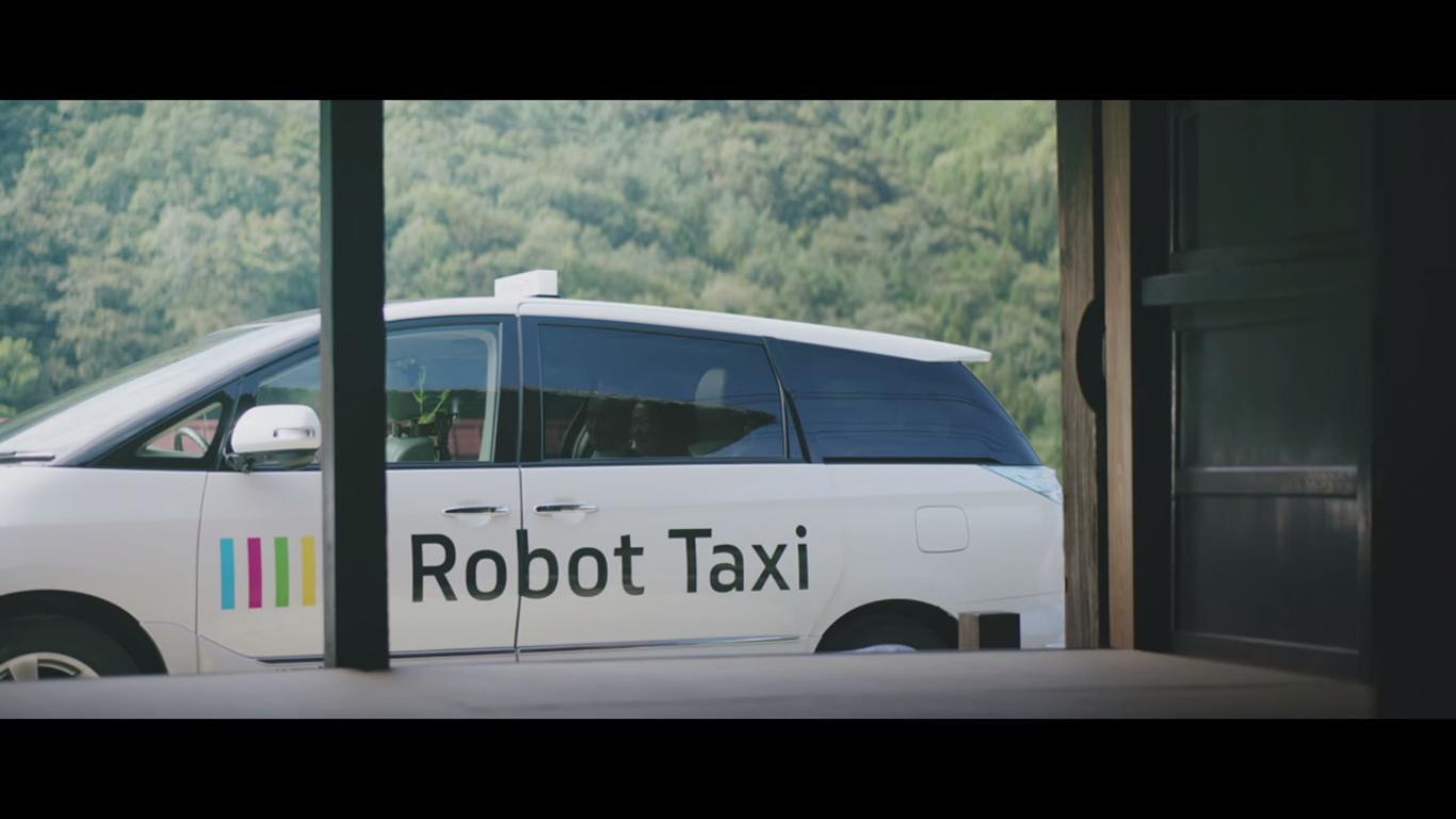 Slik se selvkjørende taxiene ut. Bildet er hentet fra promo-videoen. Foto: Robot Taxi