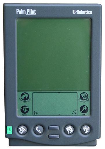 En tidlig Palm Pilot-PDA fra tiden da Palm ble eid av US Robotics. (Foto: Channel R / Wikipedia)