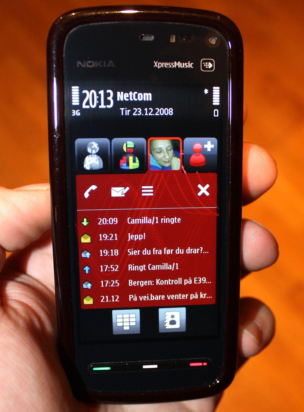 Få måneder etter testen av iPhone 3G testet vi Nokia 5800 Tube.