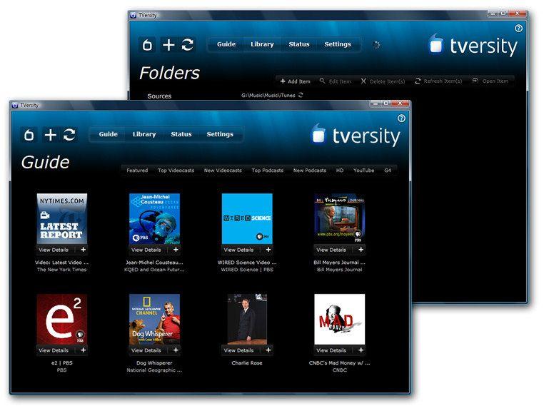 TVersity er gratis og tilbyr bl.a. sanntids-konvertering