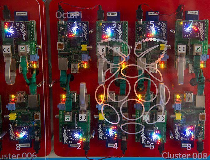 Nærbilde av OctaPi. Foto: GCHQ