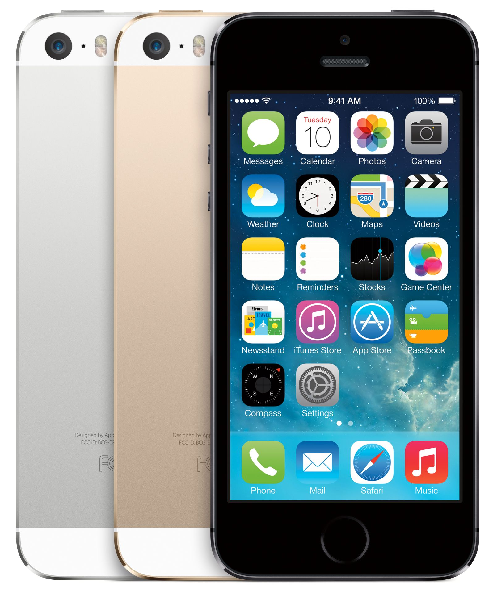 iPhone 5S har det minste batteriet, og er også den telefonen du må lade hyppigst.Foto: Apple