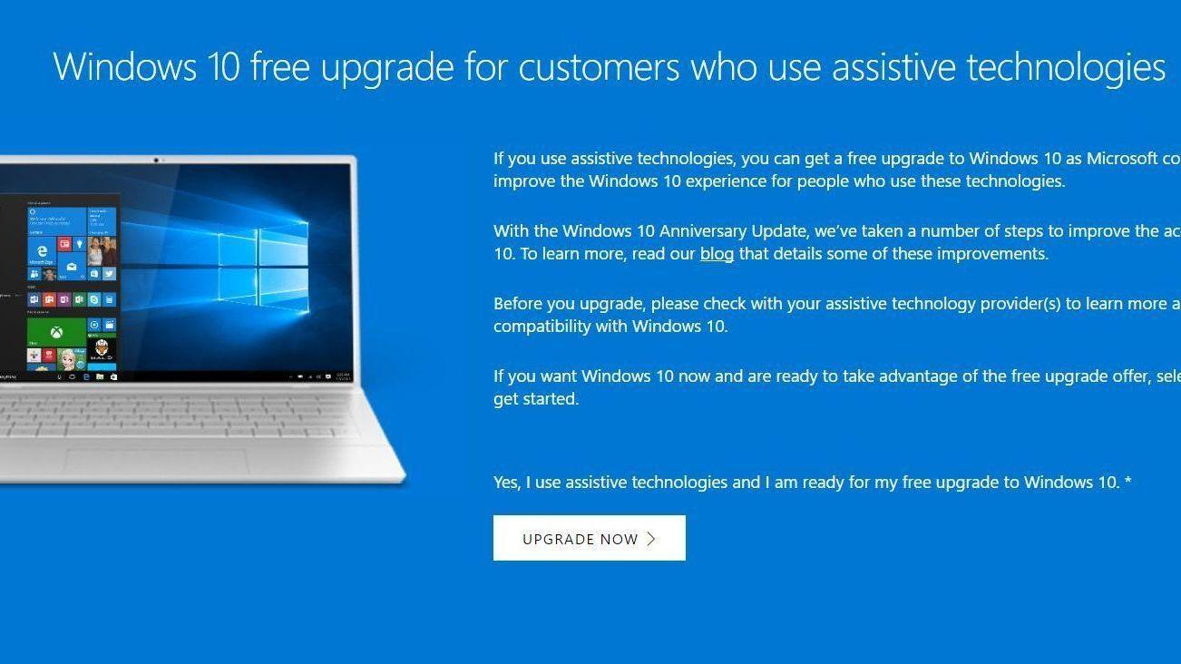 «Smutthull» gjør at du fremdeles kan oppgradere gratis til Windows 10