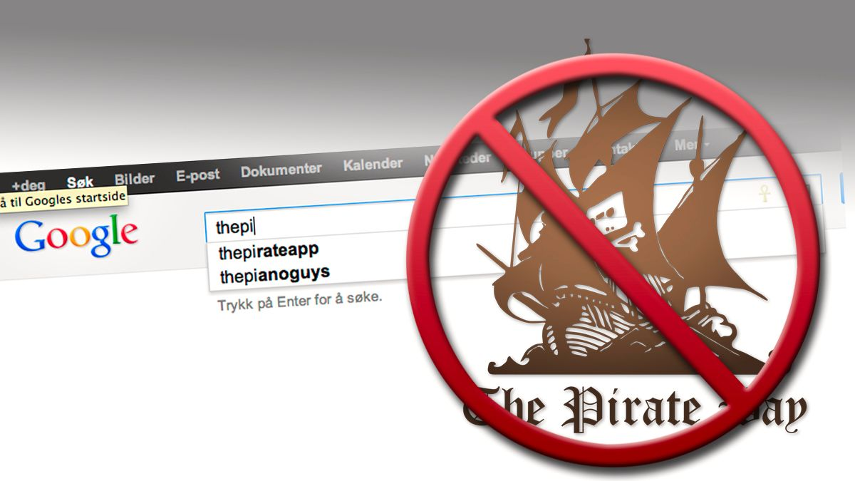 Google sensurerer «thepiratebay»