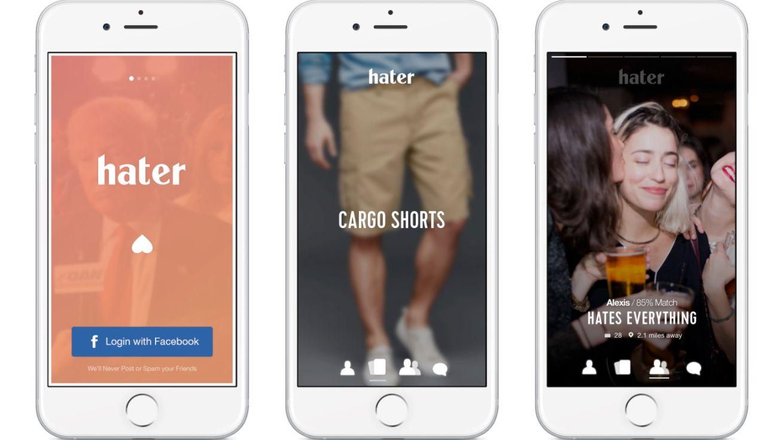 Eksempler på grensesnittet i appen.