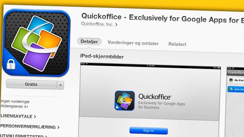 Nå er Google QuickOffice gratis til både iPhone og Android