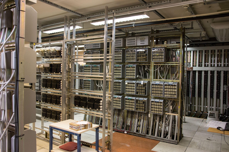 Ett av jernbanens sikringsanlegg, rommene som styrer signalanlegget.Foto: Jørgen Elton Nilsen, Hardware.no