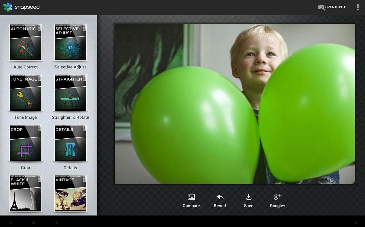 Snapseed fra velkjent Nik Software. .Foto: Nik Software