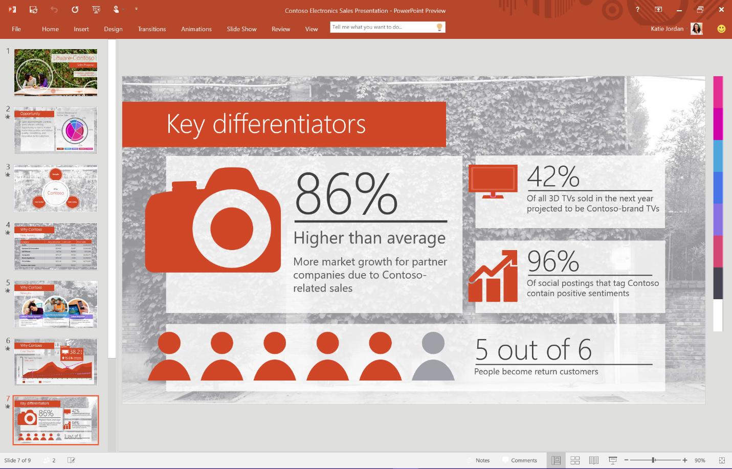 Office 2016 byr blant annet på nytt fargetema. Foto: Microsoft