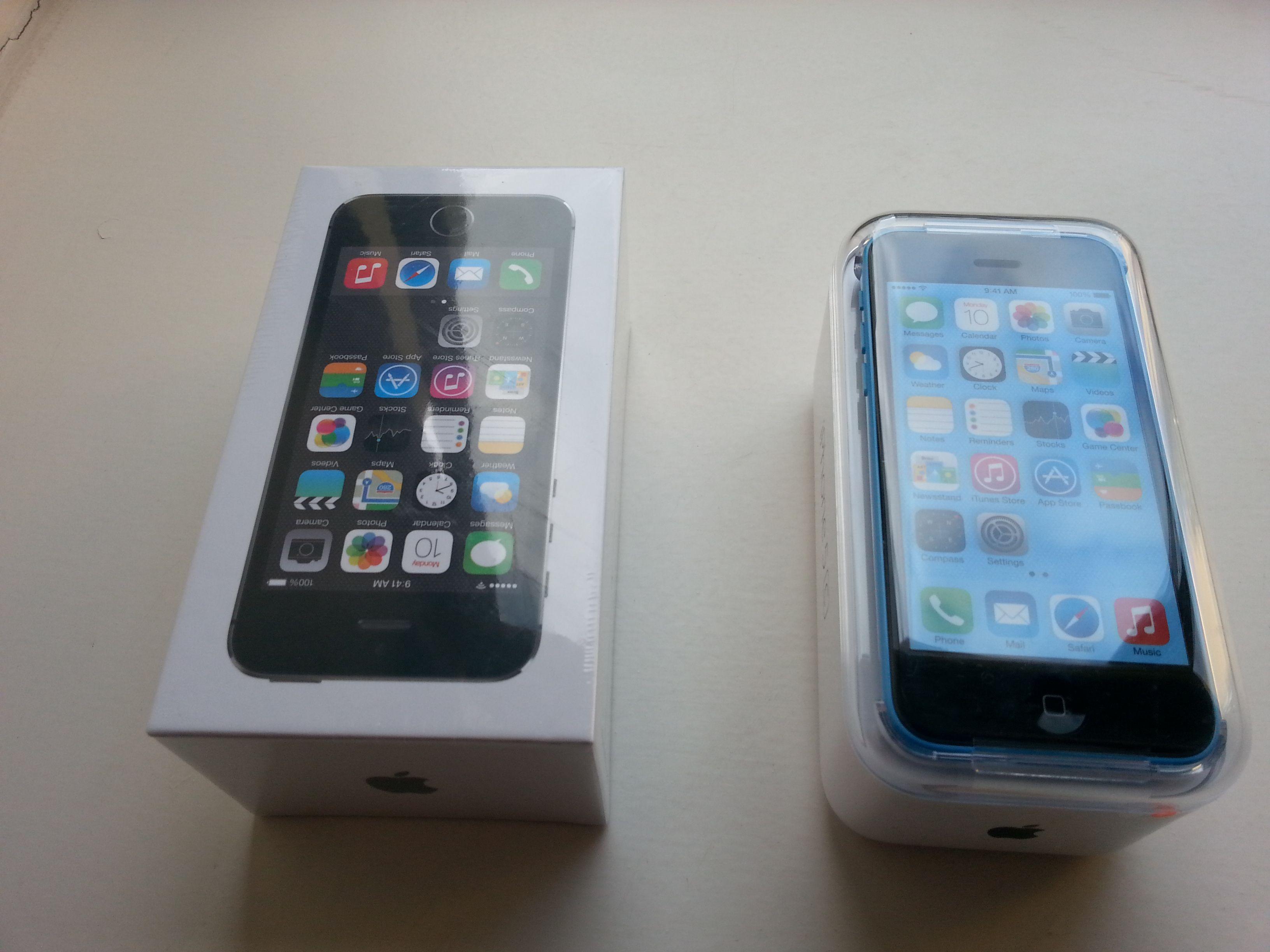 iPhone 5C og 5S.