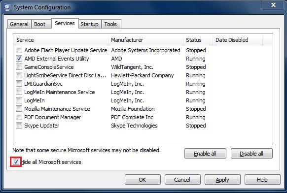 Tjenester starter også sammen med Windows, og ligger å tygger minne uavhengig av om du bruker programmene som tjenestene støtter opp om eller ei. Som du ser er det svært få tjenester det virkelig er bruk for.