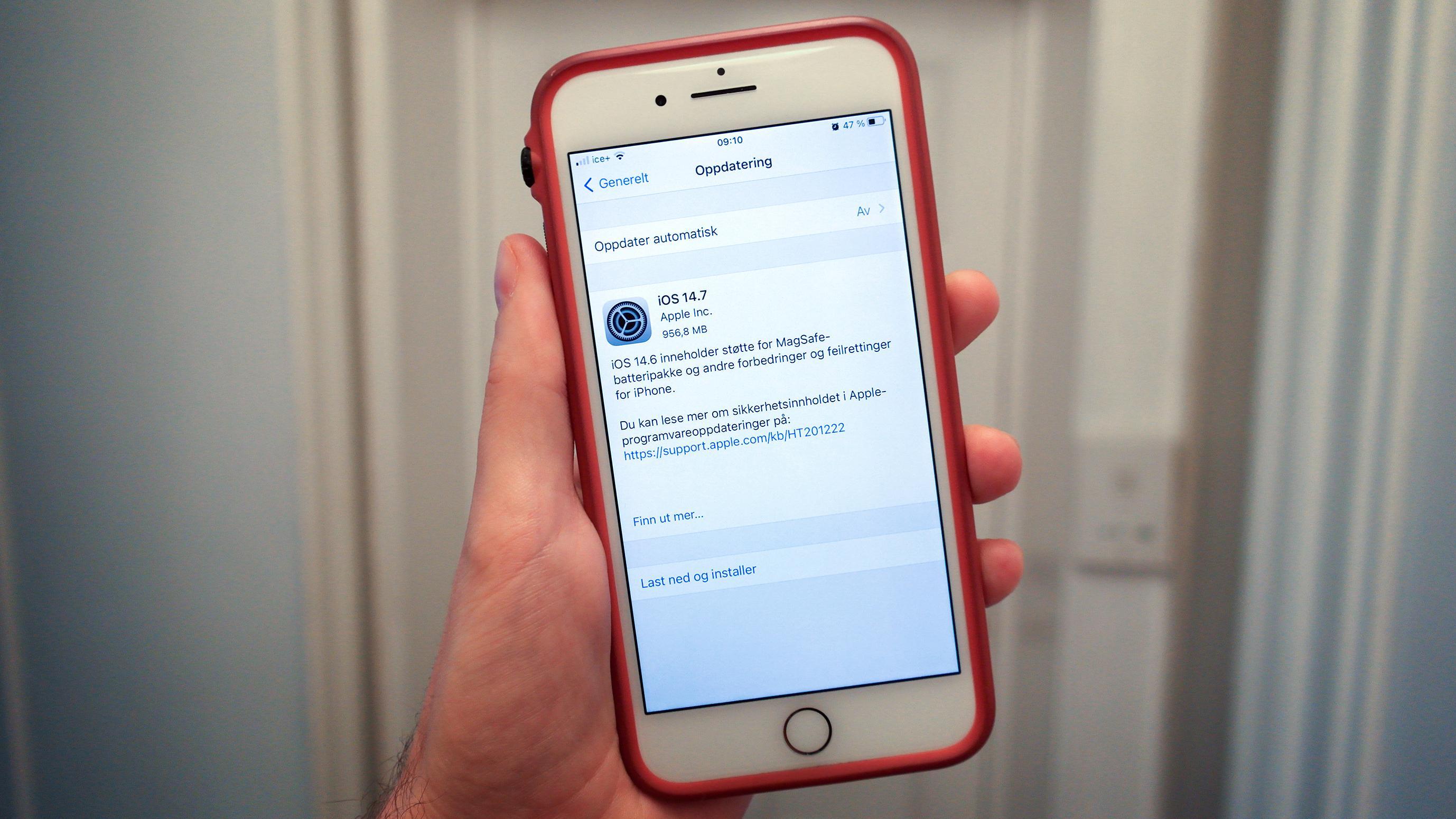 iOS 14.7 er her, med støtte for Apples nye nødlader