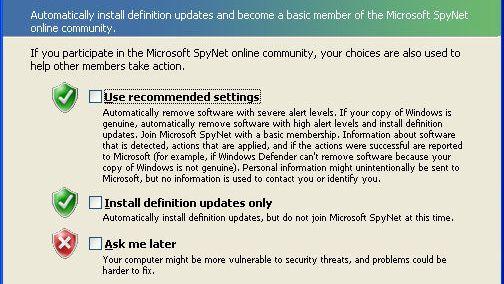 Advarer mot Windows Defender