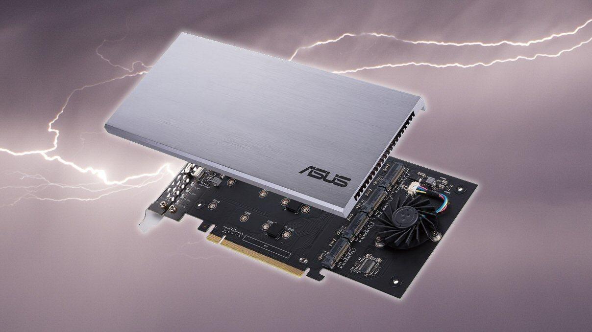 Asus' tilleggskort for SSD-frelste er i butikkene