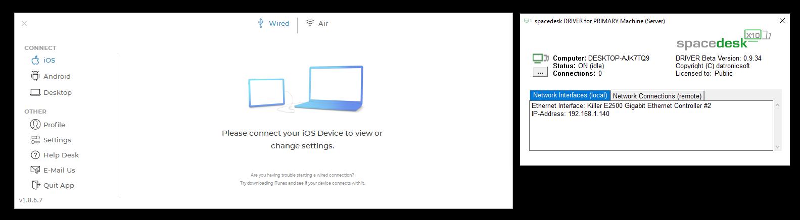 Duet Display er en relativt kostbar, men god, løsning for å bruke nettbrettet som ekstraskjerm. Trenger du bare enkel bruk kan det være greit å teste ut Spacedesk også, som er helt gratis.
