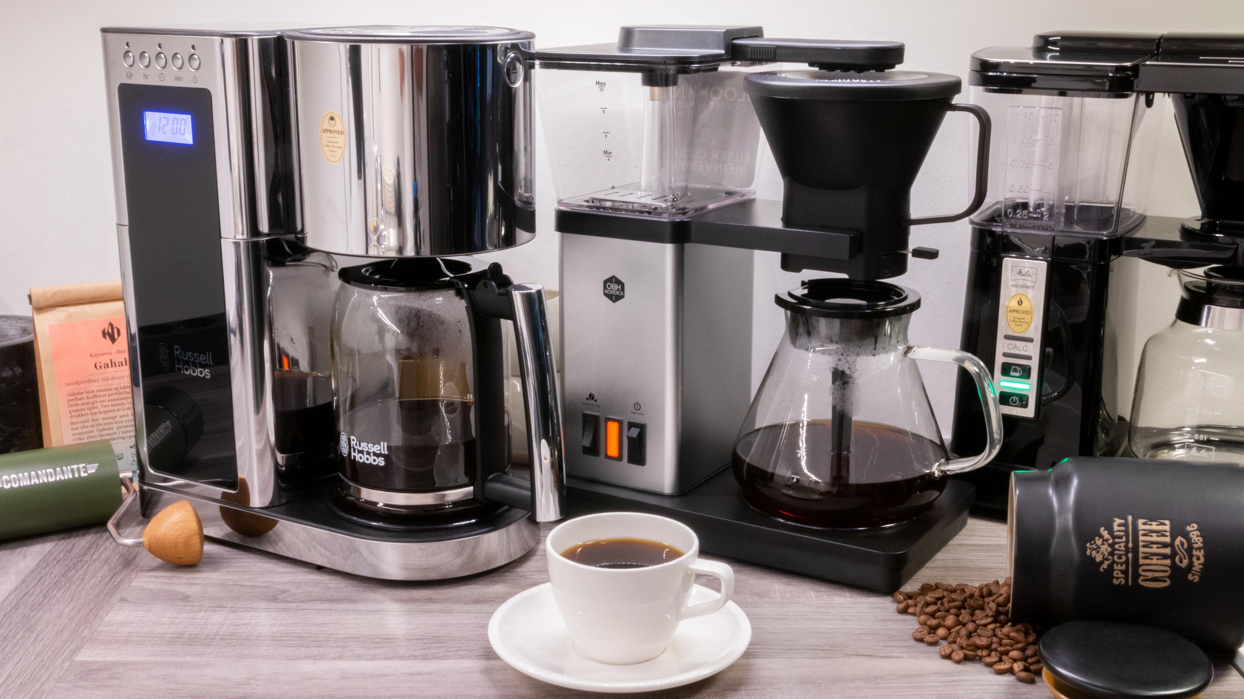 Vi har testet syv rimelige kaffetraktere