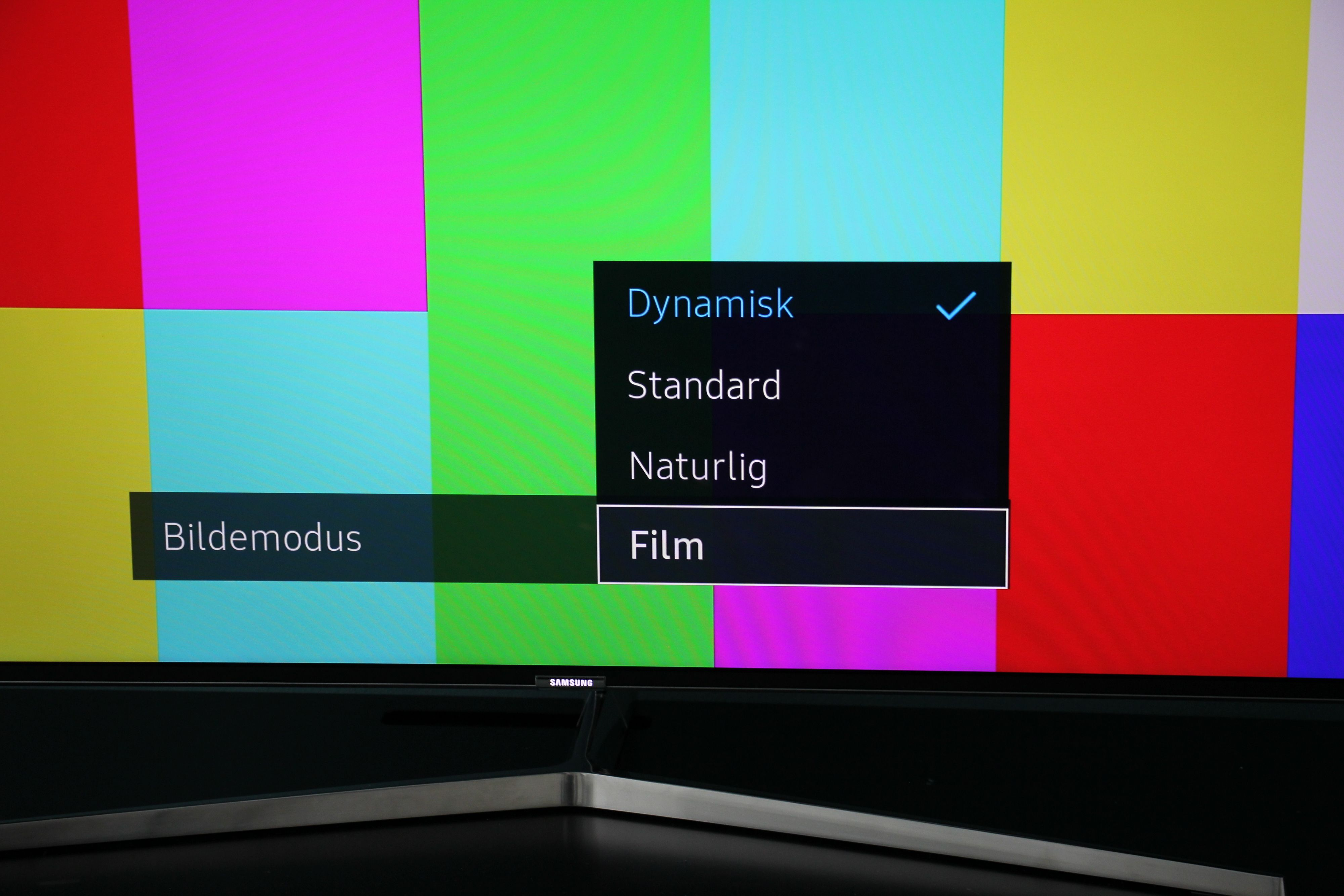På Samsungs nye TV-er er Film den beste modusen.