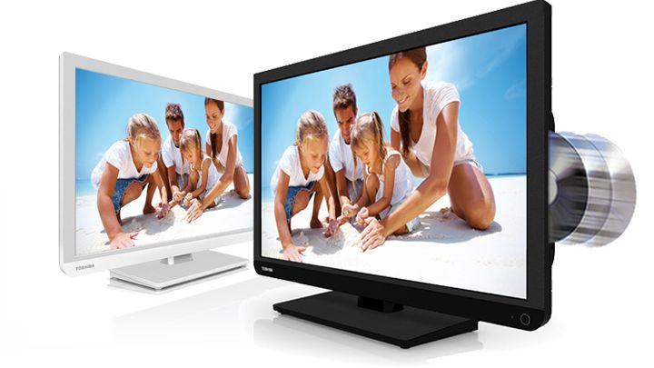Det er bare å dytte DVD-plata rett inn i TV-en D1.Foto: Toshiba
