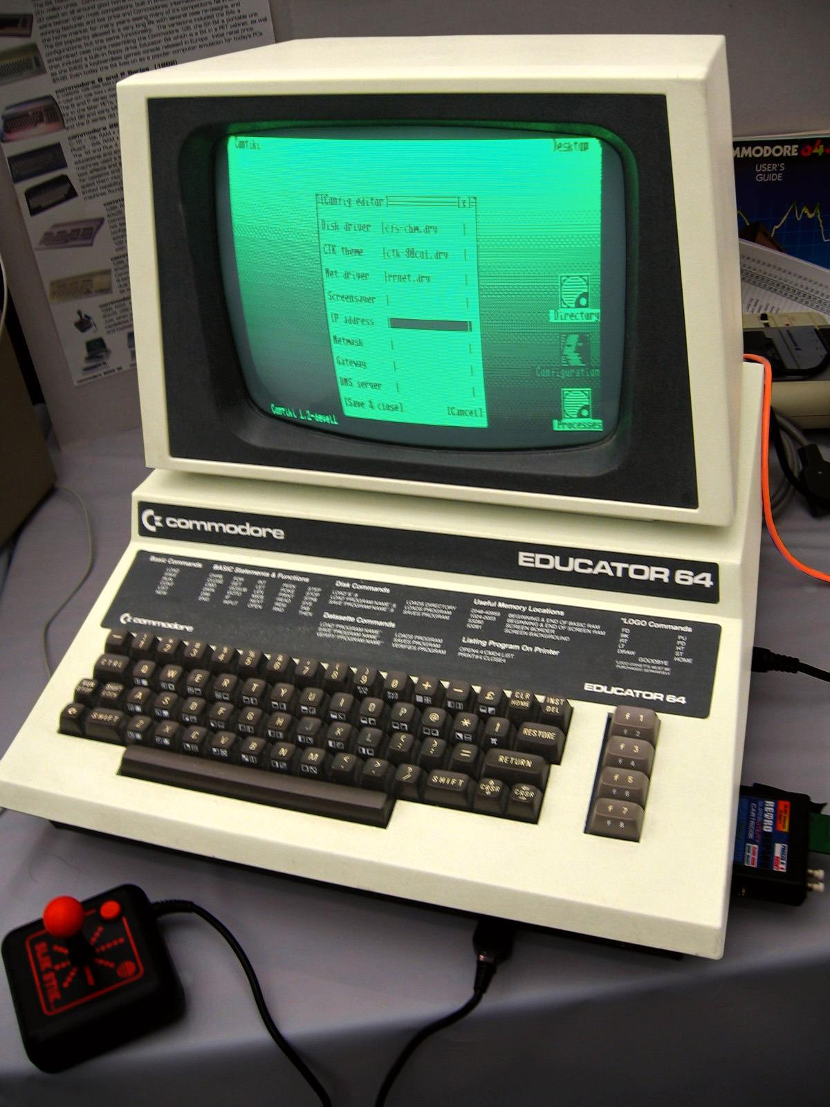 Commodore Educator 64, her med operativsystemet Contiki. Foto: Marcin Wichary / Wikimedia Commons
