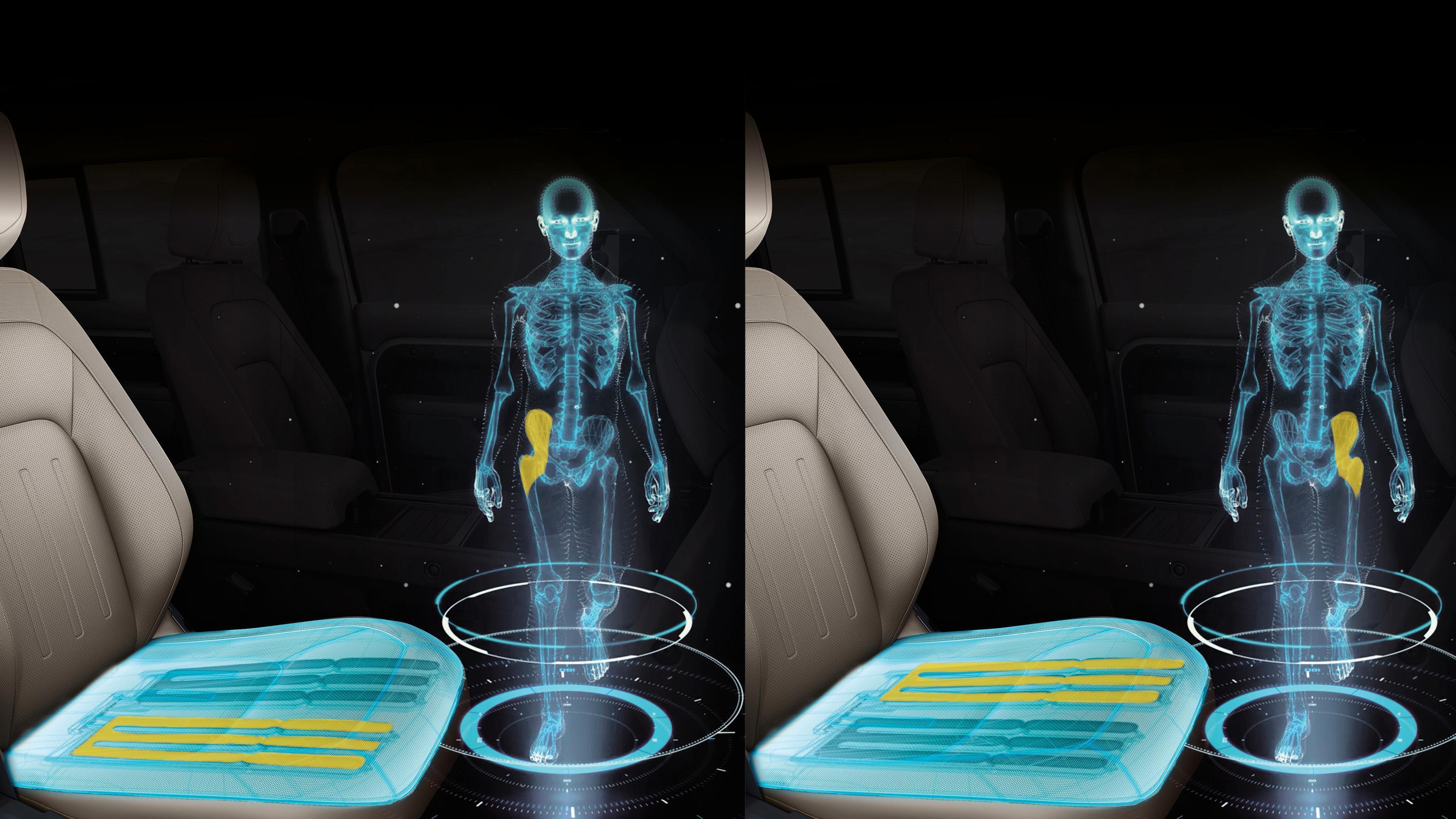 Har laget bilseter som stimulerer bena