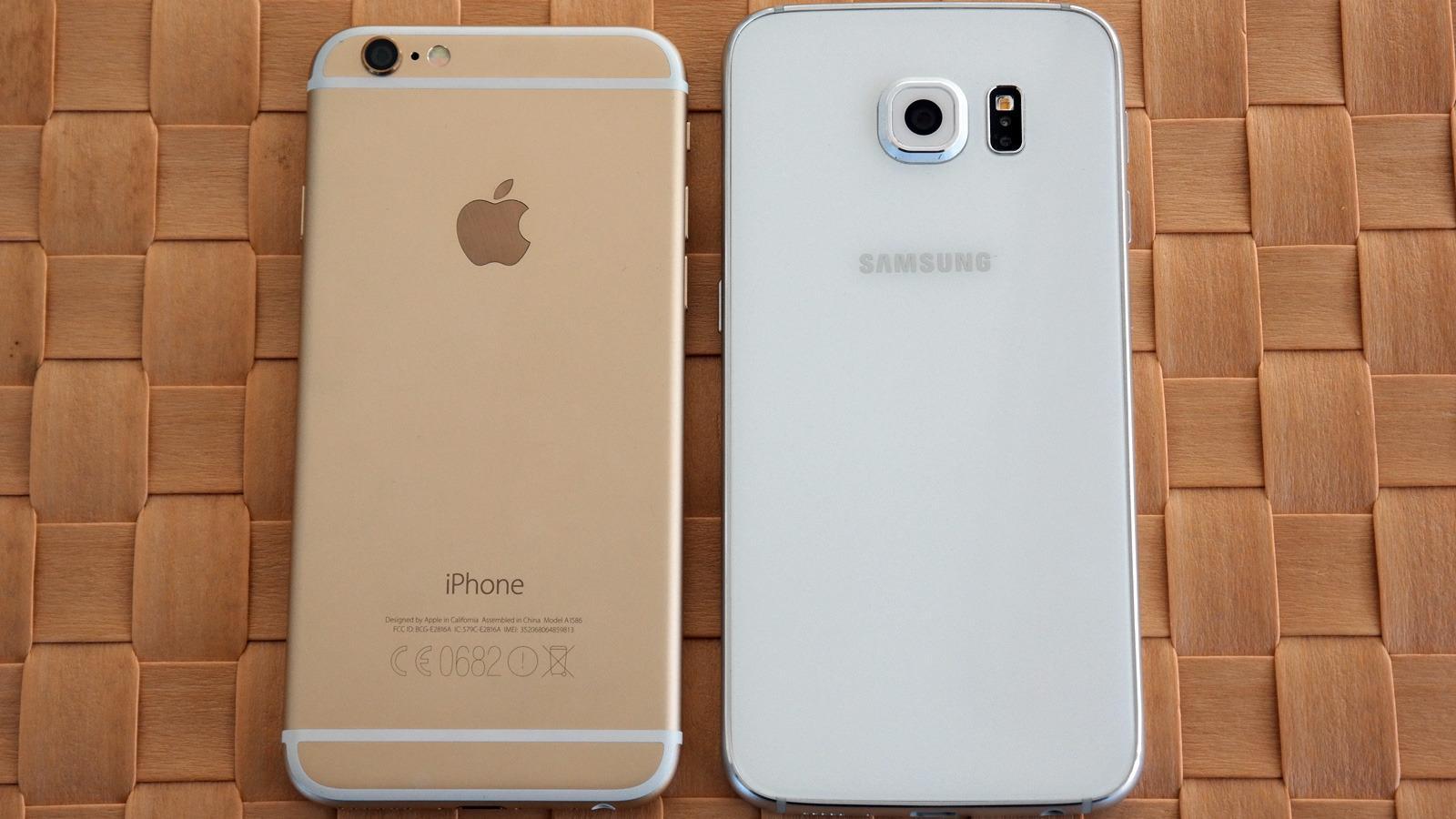 Her kan ingen beskylde Samsung for å ha kopiert iPhone. Enkelte mener derimot at Apple har valgt en løsning som minner en del om noe HTC var først med.