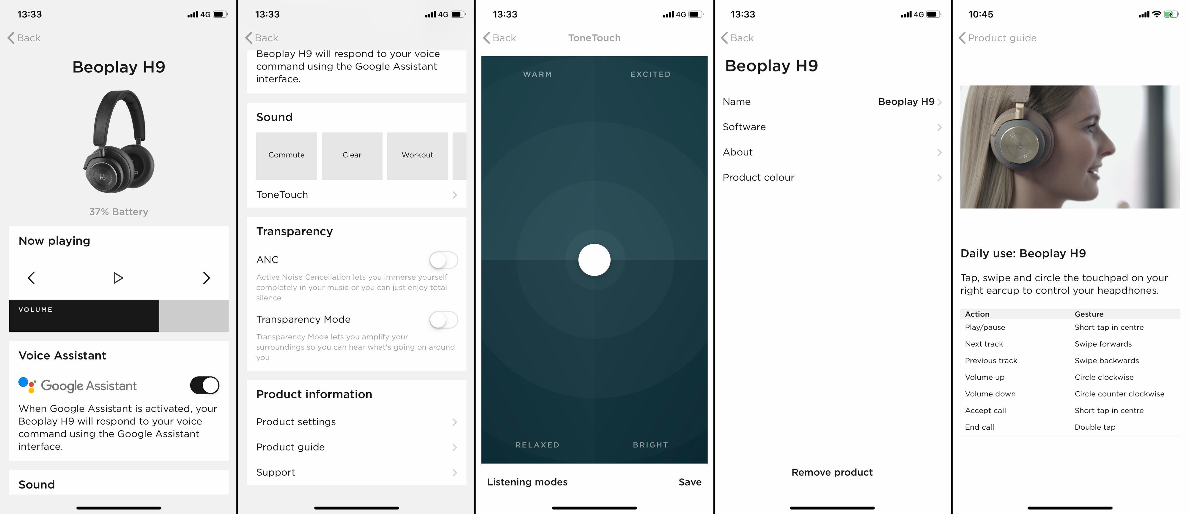 Bang & Olufsens app gir deg en god equalizer og mulighet til å skru de fleste funksjoner av og på. Vi savner kanskje flere muligheter til å skreddersy knapper, knotter og oppførsel etter eget ønske.