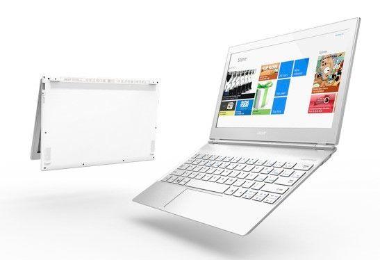 Acer Aspire S7 kommer med berøringsfølsom skjerm.Foto: Acer