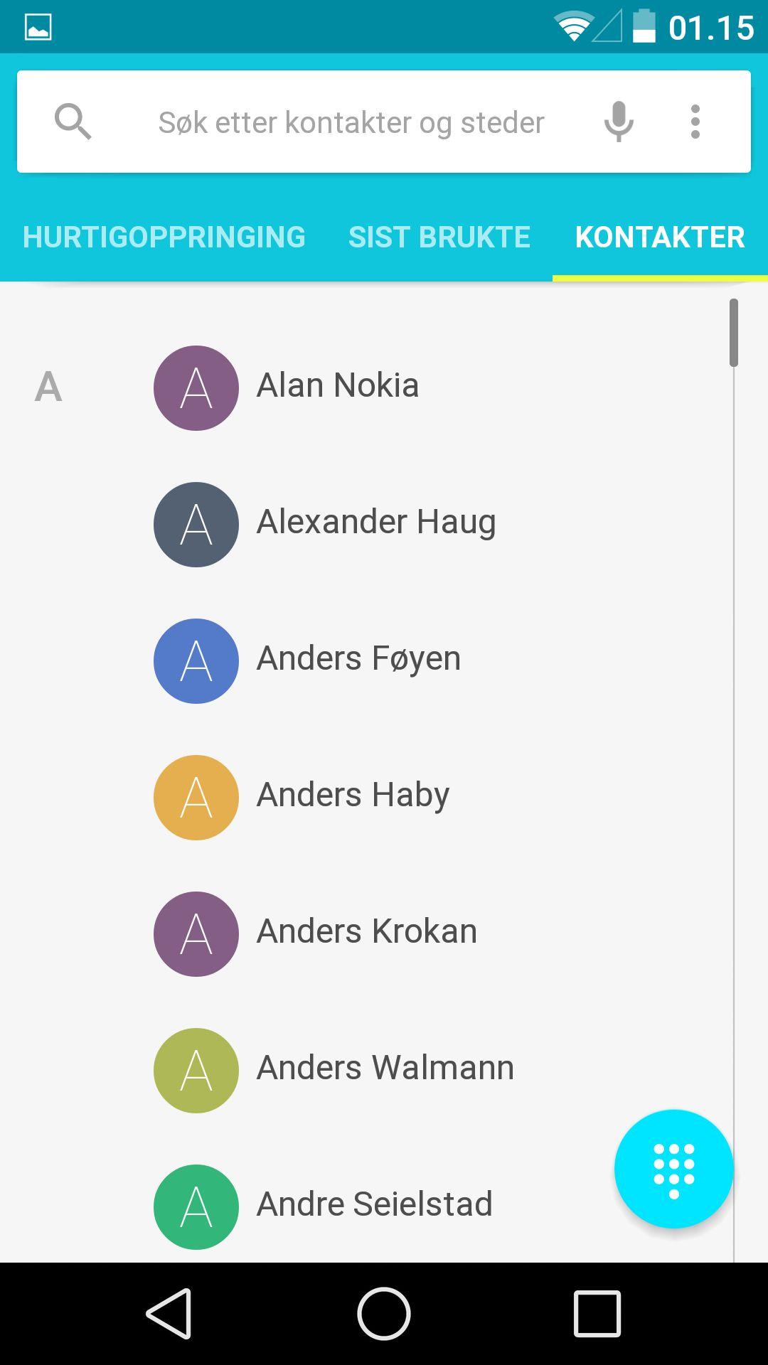 Kontaktlisten ser helt annerledes ut enn den pleide.