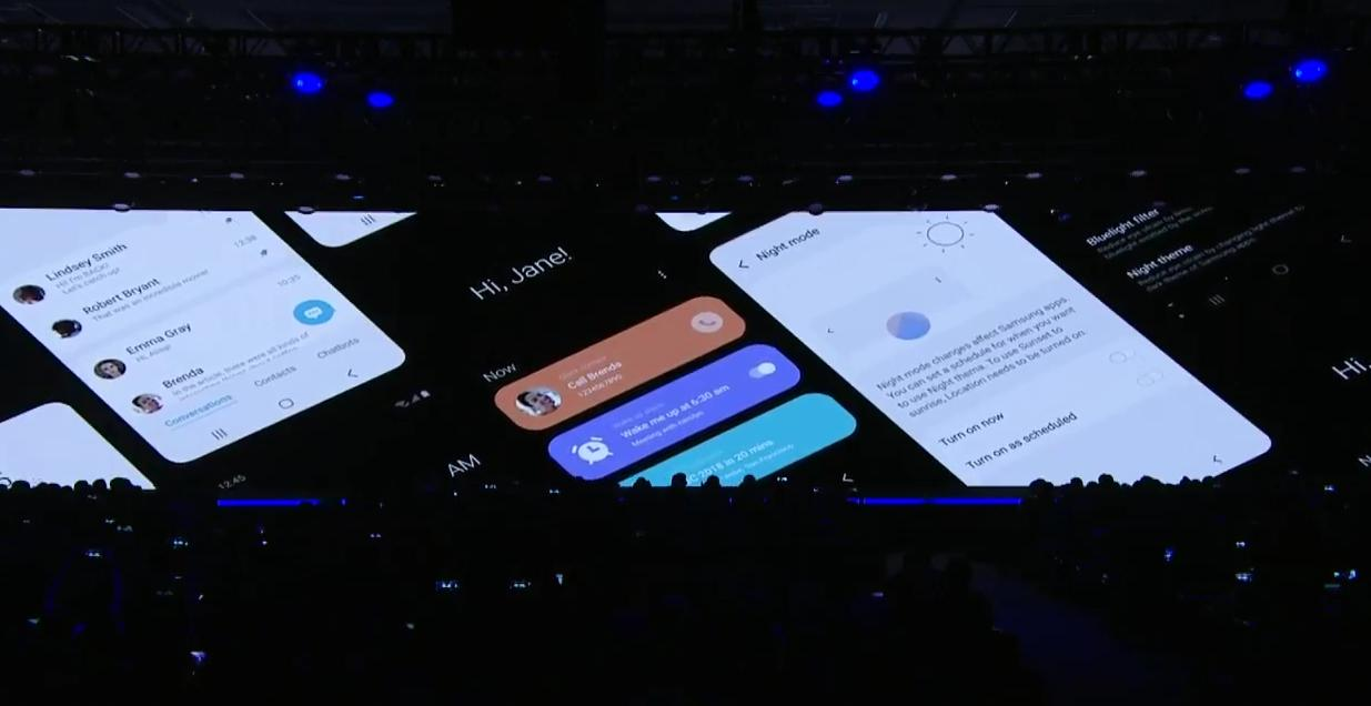 One UI, Samsungs nye brukergrensesnitt som er bedre tilpasset større skjermer og små hender.