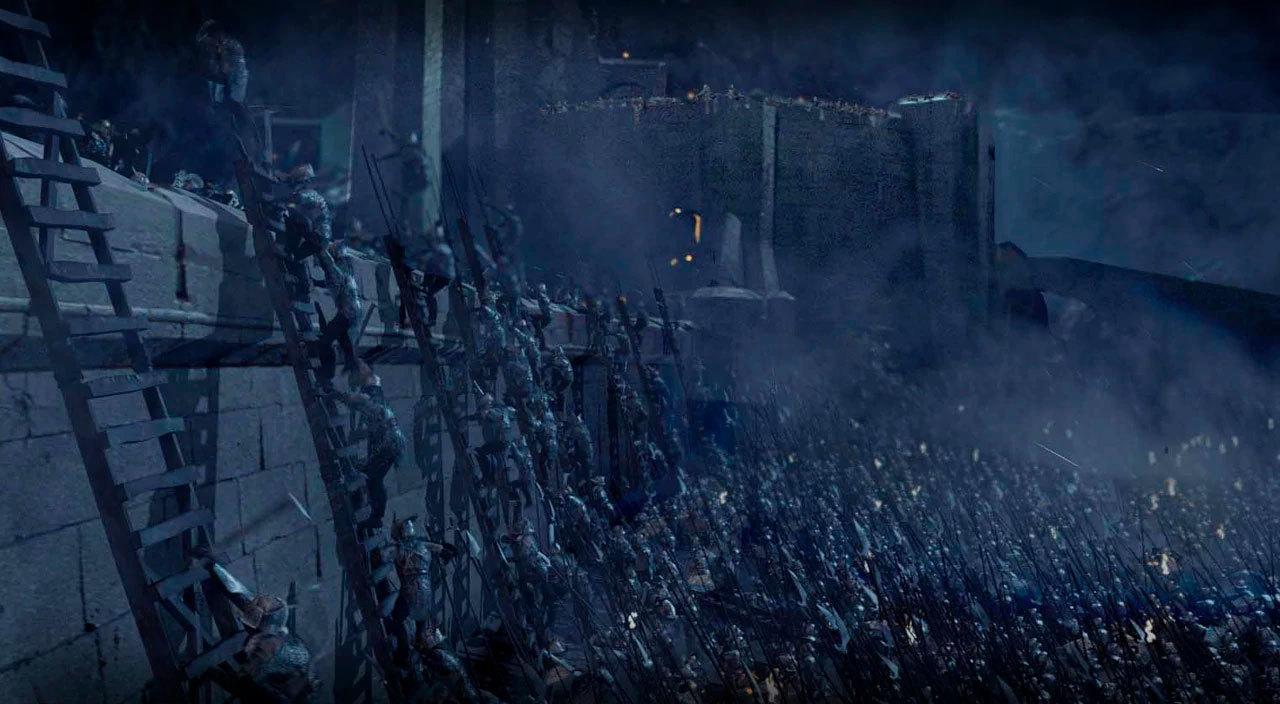 Fra Ringenes Herre: To Tårn, da orkene angrep Helm's Deep.