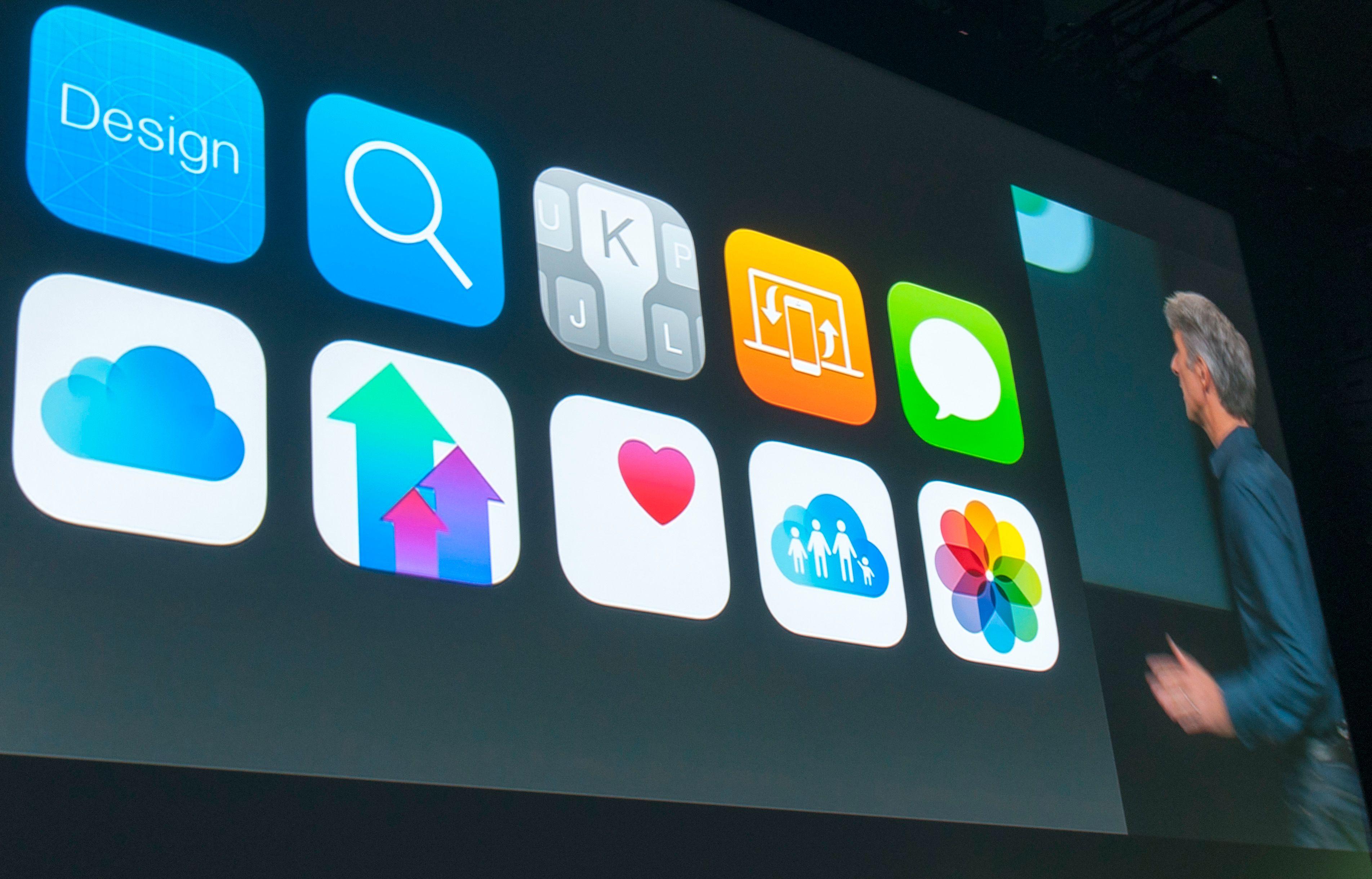 Federighi viser funksjoner i iOS 8.Foto: Finn Jarle Kvalheim, Tek.no