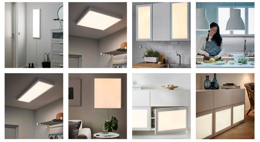IKEA har også flere større lyspaneler og skapdører med lyspaneler, men disse har vi ikke sett på denne gangen.
