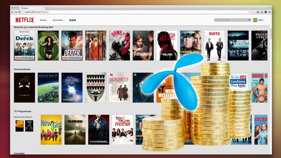 Så mye hjalp det Netflix å betale for bedre Telenor-hastighet