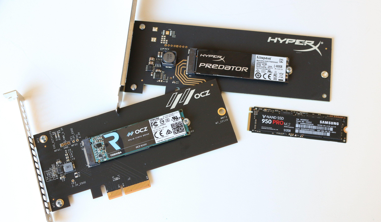 Både HyperX- og OCZ-disken får du om ønskelig med HHHL-adapter inkludert.