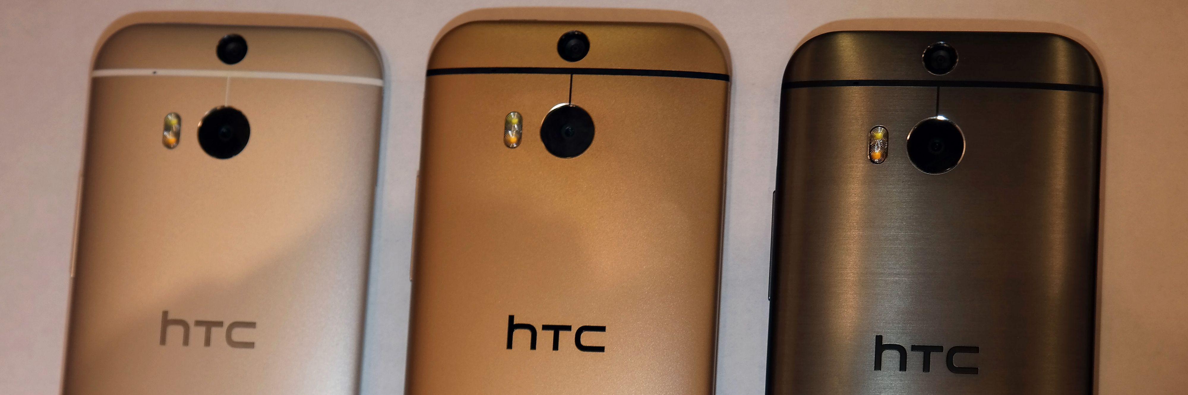 HTC One M8 kommer i tre farger.Foto: Espen Irwing Swang, Amobil.no