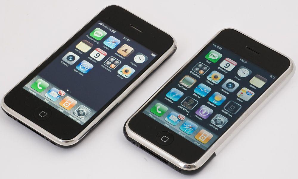 Gamle og nye Iphone. (Klikk for større bilder)