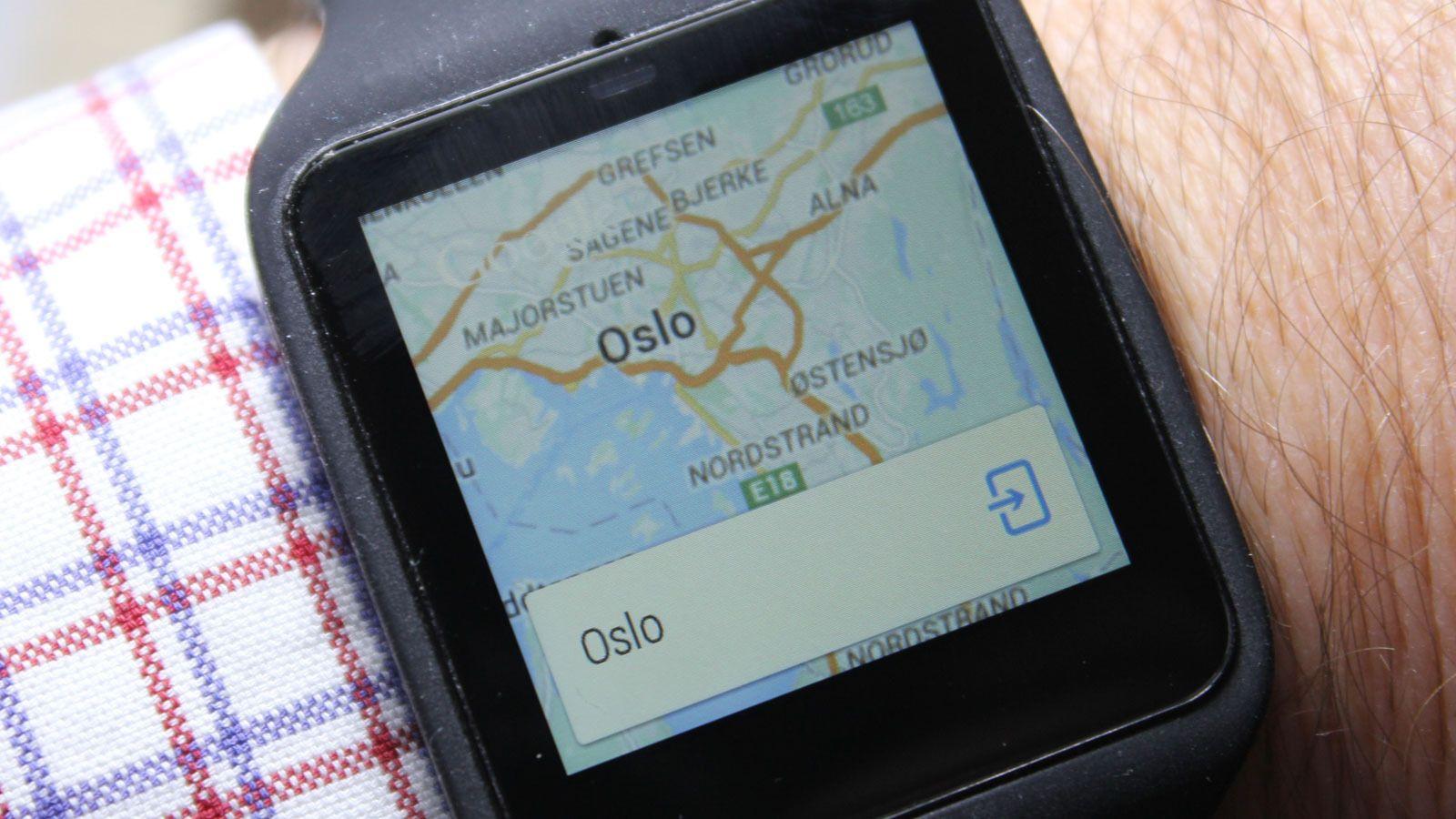 Dette dukket opp på skjermen når vi bare sa «Oslo».Foto: Espen Irwing Swang, Tek.no