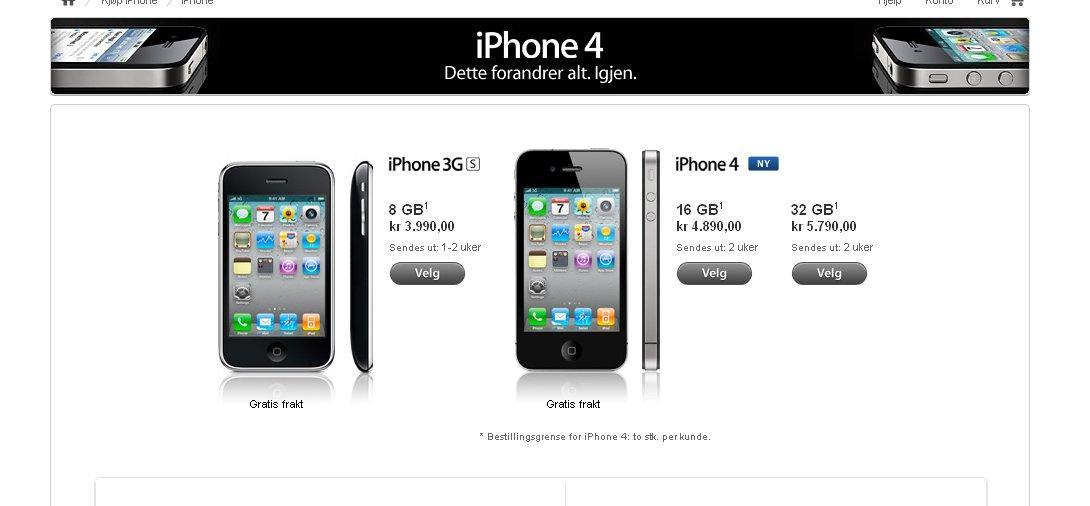 Hvit Iphone 4 utsatt for godt?