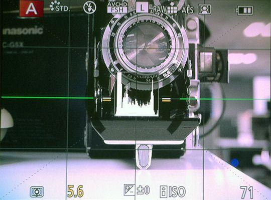 Her viser Panasonic GH3 et sanntidshistogram mens du tar bilder.Foto: Paal Harald Mork-Knutsen
