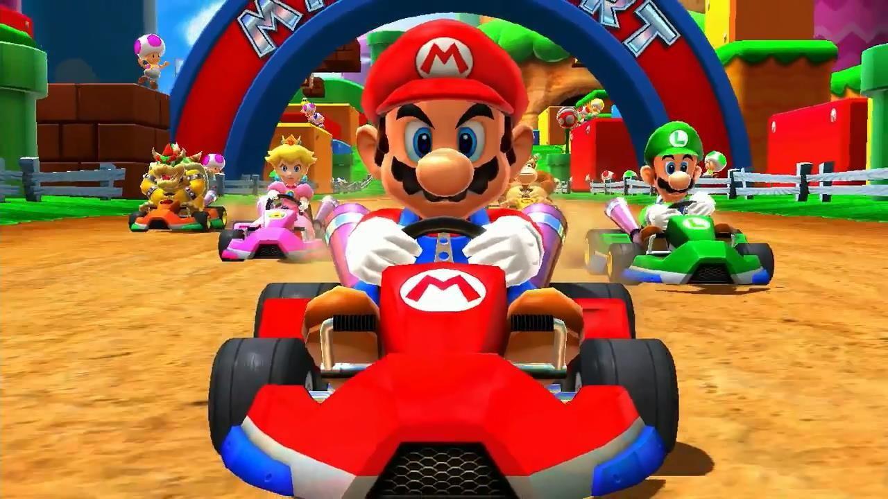 Nintendo bruker spillfigurene sine i et stort antall forskjellige spill. Her kjører Mario go-kart. Foto: Nintendo