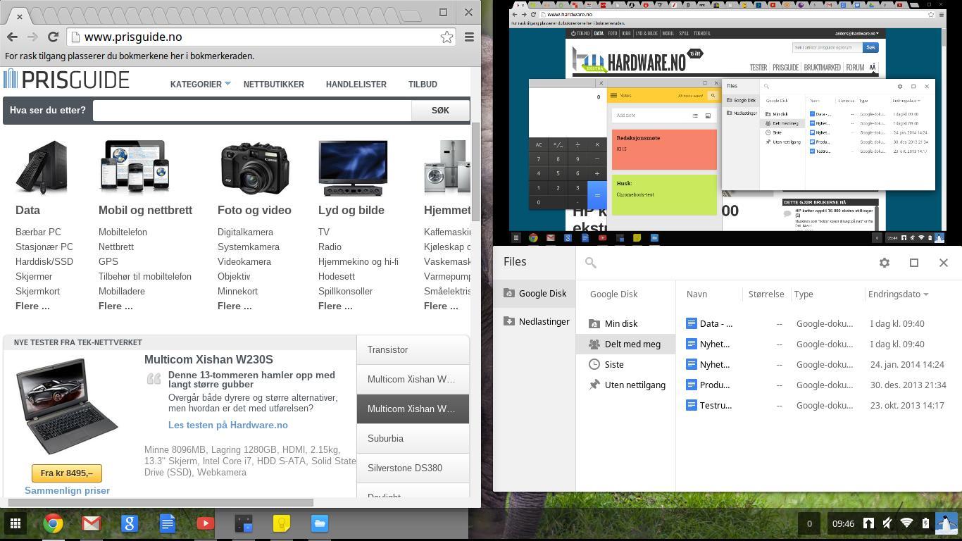 Slik ser Chrome OS ut.Foto: Anders Brattsborg Smedsrud, Hardware.no