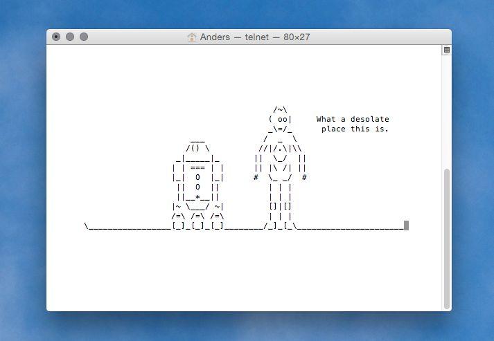 Om ikke annet er det imponerende å tenke på tiden det har tatt å animere første akt av Star Wars i ASCII-kode.
