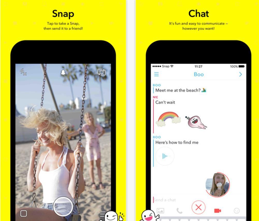 Slik forklarer Snapchat de nye funksjonene.