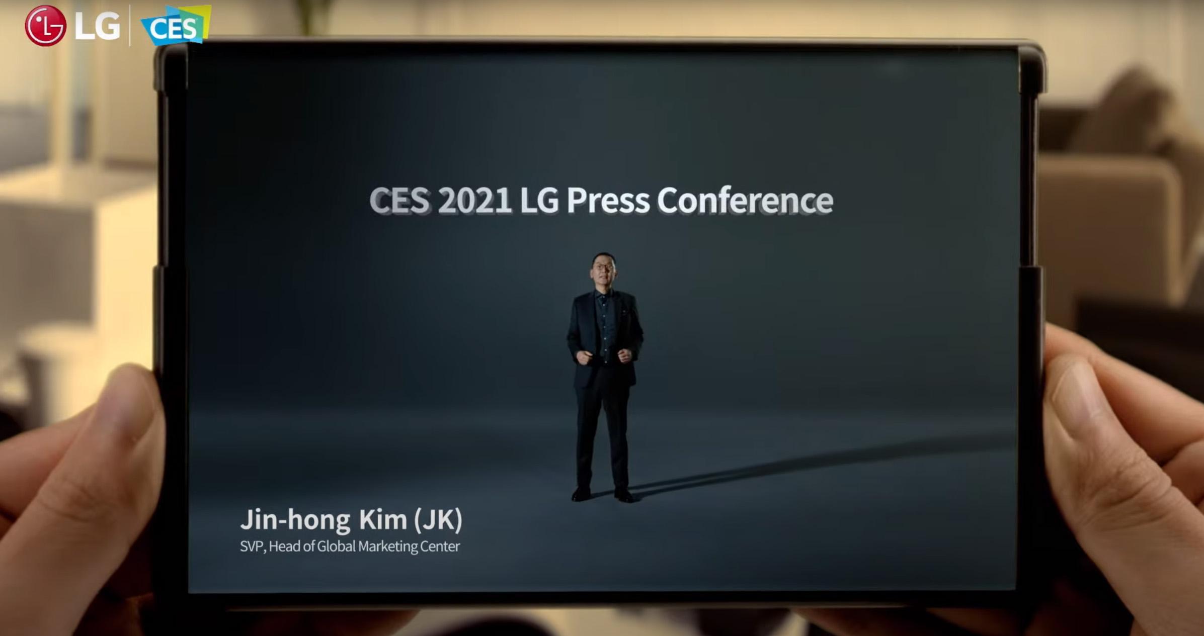 Allerede i starten av pressekonferansevideoen ble rulletelefonen vist frem.